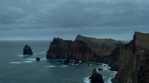 Sunrise Madeira 4K Timelapse stock footage