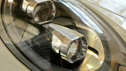 headlights - detail - luxury car (cabrio) Footage