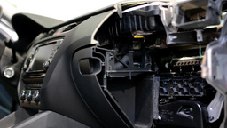 car dashboard - disassembled - look inside Footage