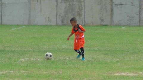 Little football player on the training Footage