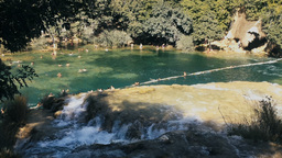People swimming in waterfall in The Natural Park of Krka, Croatia 영상물