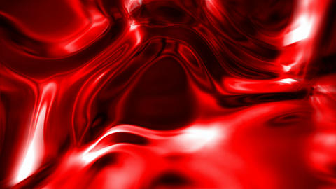 Abstract wavy shiny red surface motion background seamless loop Animation