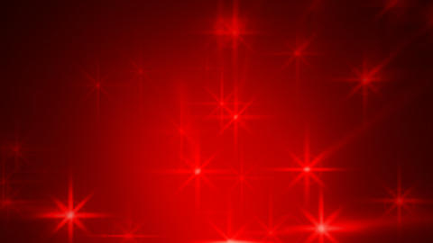 Abstract red blurred stars motion background Stock Video Footage
