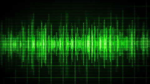 Green high-tech waveform seamless loop Animation