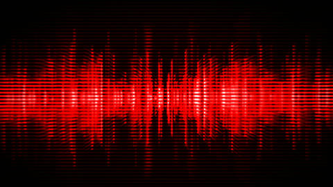 Red high-tech waveform seamless loop Animation