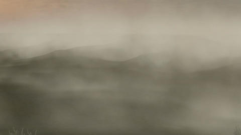 Sandstorm in Desert: Version #2(Camera Motion Dolly) Animation