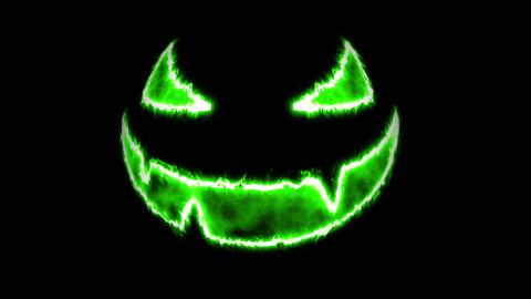 Scary Pumpkin Face Halloween Background loop glow 4k Animation