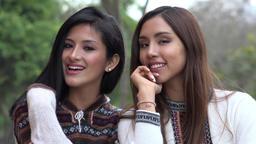 Smiling Peruvian Women Wearing Sweaters Footage