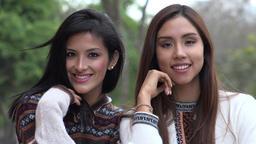 Smiling Peruvian Women Wearing Sweaters, Live Action