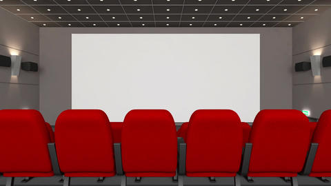 Movie theatre with blank screen Footage