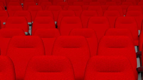 Empty comfortable red seats Live Action
