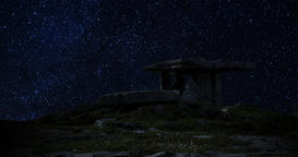 A 4K Night lapse of the famous Poulnabrone Dolmen in the Burren County Clare Image