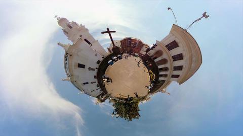 Cathedral Metropolitan And Palacio De Carondelet In The Daytime Footage