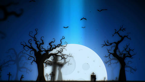 Halloween spooky animation background motion graphics... Stock Video Footage
