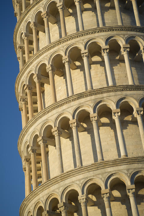 Details of the tower of Pisa フォト