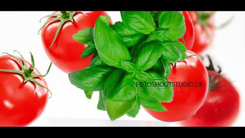 Tomatoes and basilicum Filmmaterial