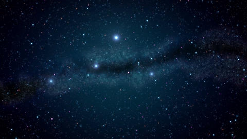 Milky Way night sky Animation
