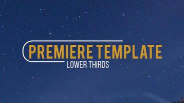 10 Lower Thirds Premiere Pro Template