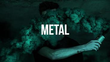 Fast Metal Stomp Logo Premiere Pro Template