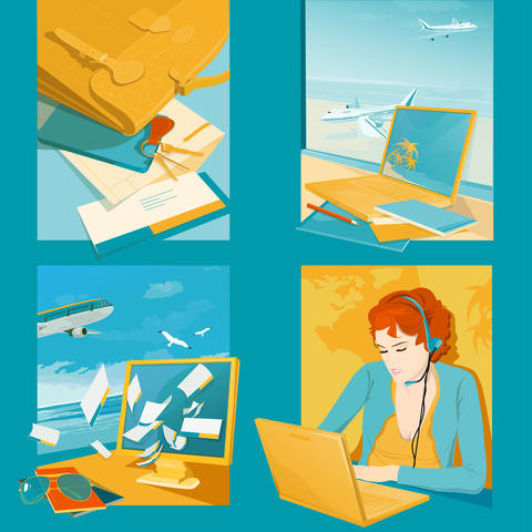 Travel Agency Illustrations フォト