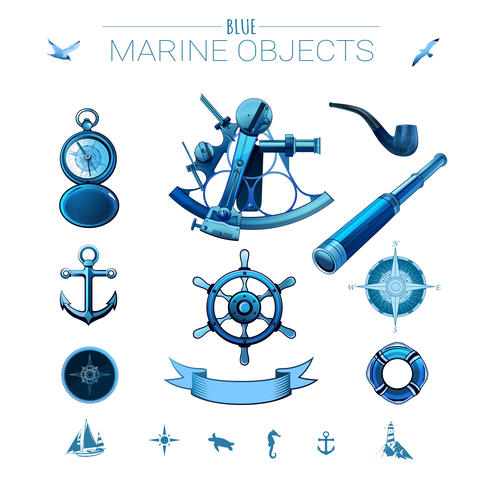 Blue marine objects Foto