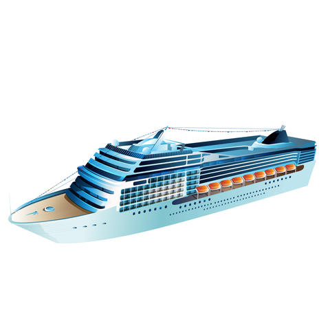 Cruise Liner Illustration フォト