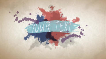 Water color intro After Effects Template