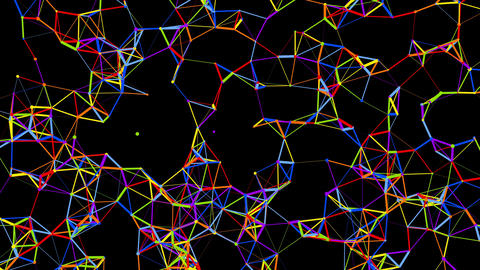 Multicolored Atomic Network Formation Videos animados