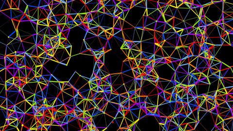 Multicolored Atomic Network Formation, Banco de Videos Animados