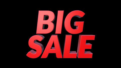 3D Big Sale Bounce Text CG動画素材