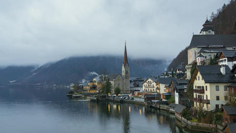 Timelapse video of Hallstatt in Austria at early morning Footage