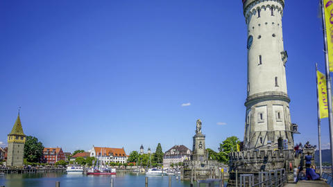 Timelapse video of Lindau Marina in Germany Archivo