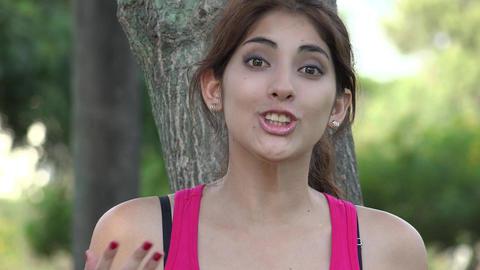 Hispanic Woman Talking Live Action
