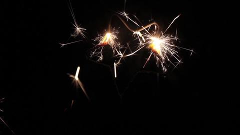 Star shaped sparkler Live Action