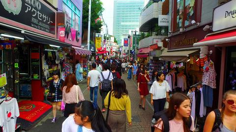 Takeshita Street in Harajuku Tokyo Japan ビデオ