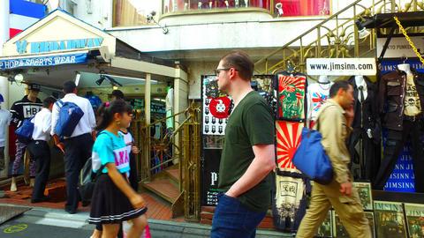 Side tracking of Takeshita Street in Harajuku Tokyo Japan ライブ動画