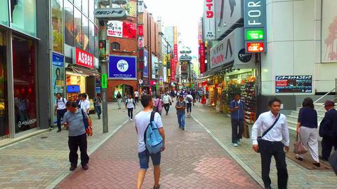Shibuya center-gai street in Shibuya Tokyo Japan ライブ動画