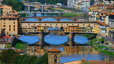 Ponte Vecchio and the River Arno Footage