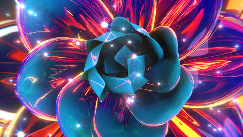 Blooming Abstract Flower Animation