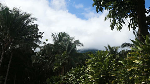 Landscape of mountains and sky.Camiguin island Footage