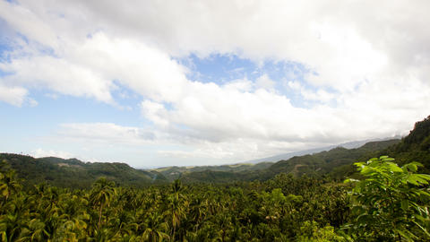 Panoramic views of jungle mountains in Philippines.Timelaps Footage