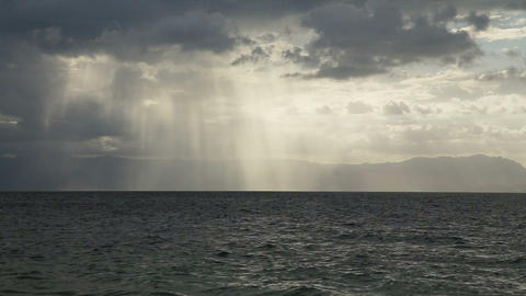 sun rays over the sea Footage