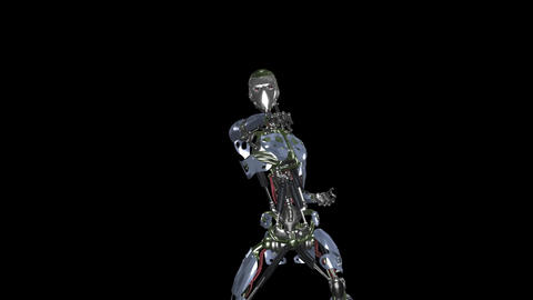 Iron Man Fighter - II - MS - Transparent CG動画素材