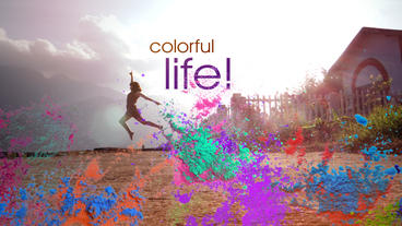 A Colourful Life Opener Template After Effects Project