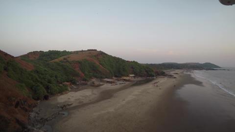 Goa beach. Inscription in the long term Footage