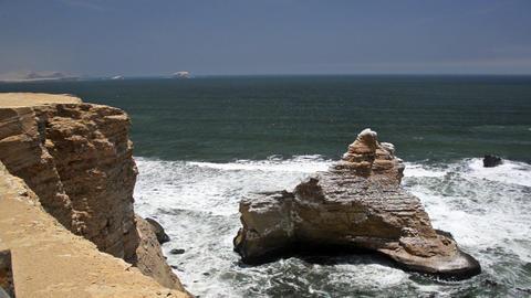 Seascape in Paracas, Peru Footage