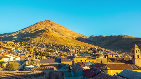 Sunset over Potosi, Bolivia Footage