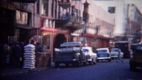 1956: Chinatown architecture buildings main street tourist strip Footage
