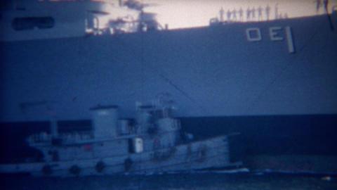 1956: USA Navy ship Sacramento AOE-1 Fast Combat Support Ship Footage