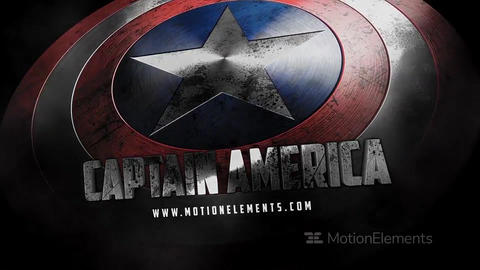 Captain America Shield After Effects Template
